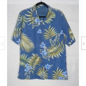 Tommy Bahama Hawaiian Floral 100% Silk Shirt M